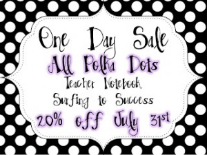 One Day Polka Dot Sale