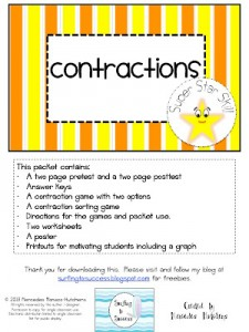 Super Star Packet: Contractions