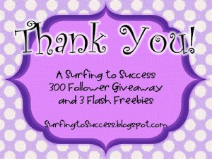 Flash Freebies and a Giveaway to Celebrate 300