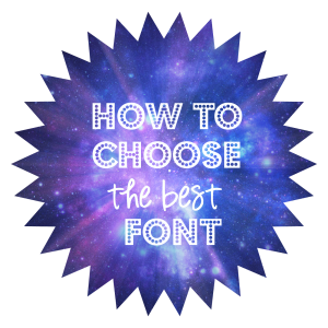 How to Choose the Best Font