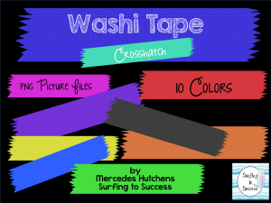 Washi Tape Clipart Accents