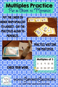 Using Multiples to Memorize Multiplication Facts