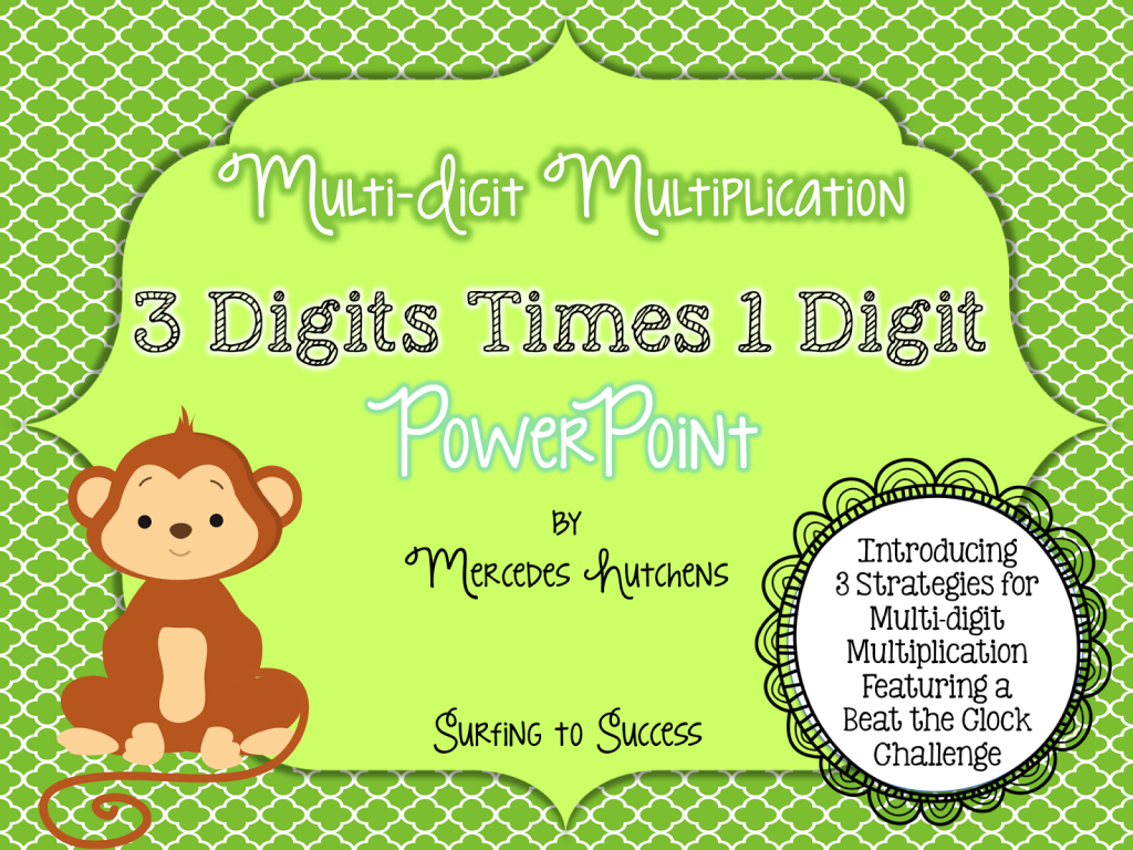 Multiplication Worksheets multiple digit multiplication worksheets : 3 Strategies for Multiplying Multi-Digit Numbers - Surfing to Success