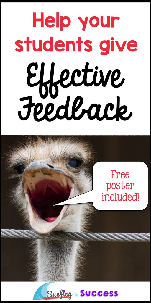 Do your students know how to give each other effective feedback? This freebie can help.