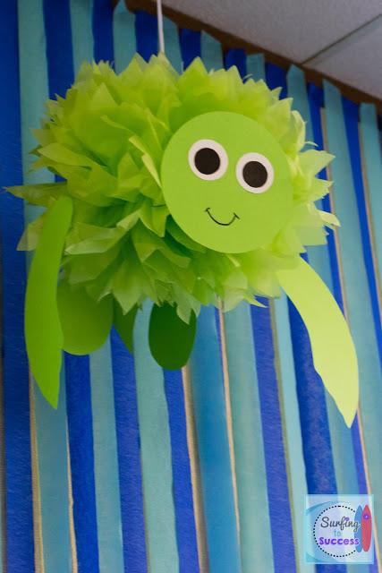 Ocean Theme: Tissue Paper turtle