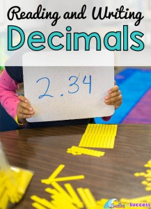 Reading and Writing Numbers with Decimals