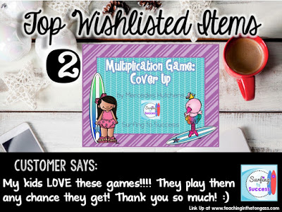 Multiplication Cover Up Game