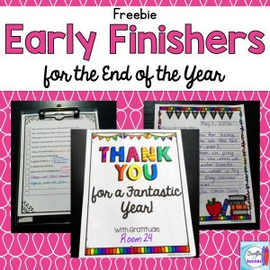 Are your early finishers needing some focus at the end of the year? Here are some simple tips to try.