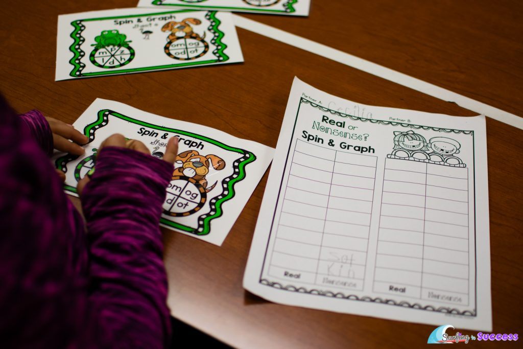 Did your dibels assessment show your students need help with nonsense words? Here is a fun and effective way to provide some intervention. Play nonsense word or real word with spinners.