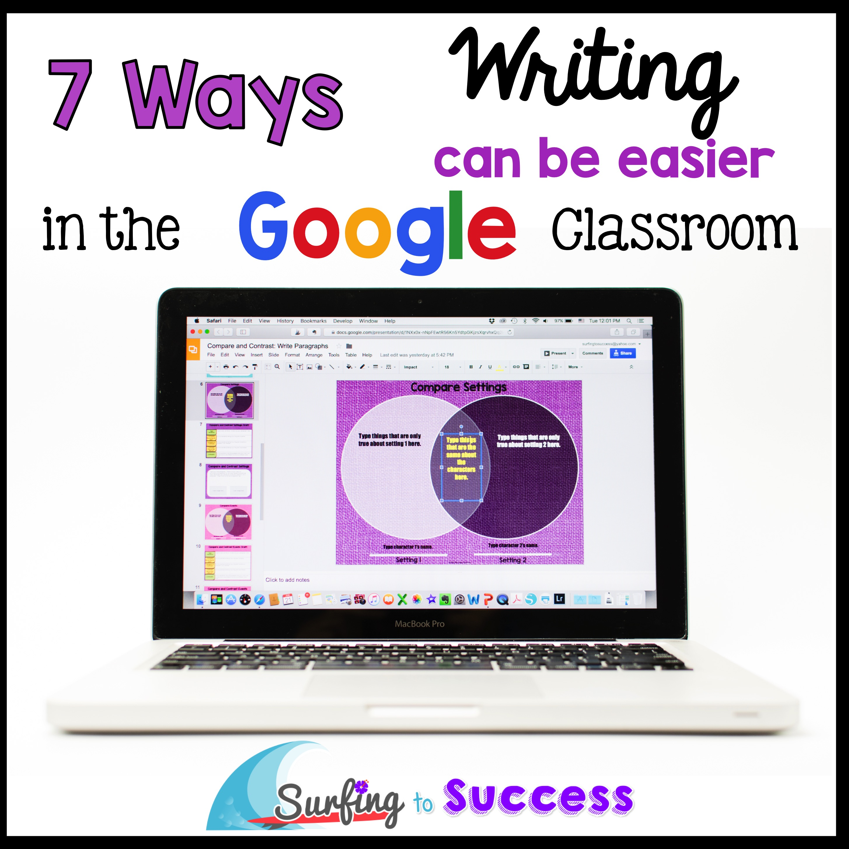 teaching writing using google surfing to success