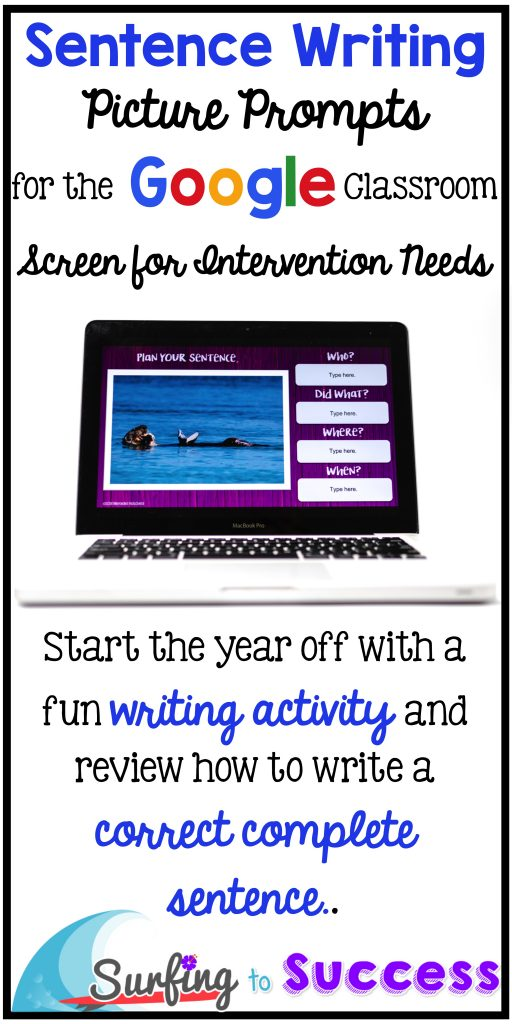 Start the year off with a fun writing activity and review how to write correct complete sentences with picture prompts.